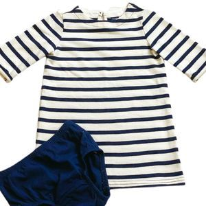 Baby Gap 2T Navy Striped Dress & Matching Bloomers